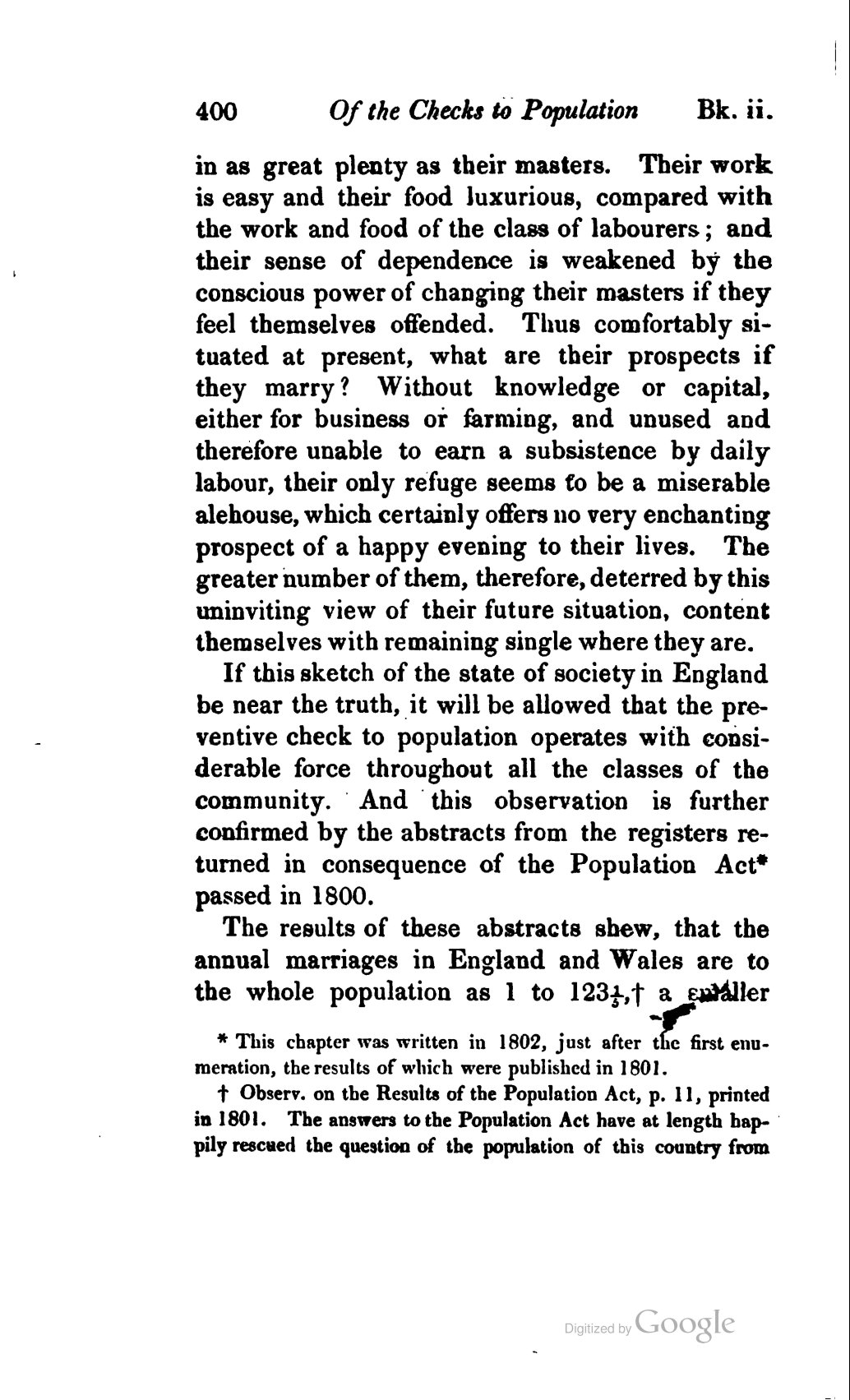 Malthus Thomas 1826 An Essay On The Principle Of Population Or