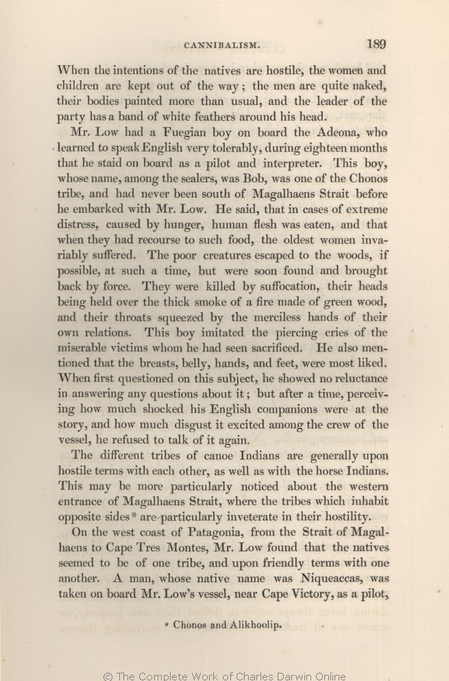 FitzRoy, R  1839  Narrative of the surveying voyages of His
