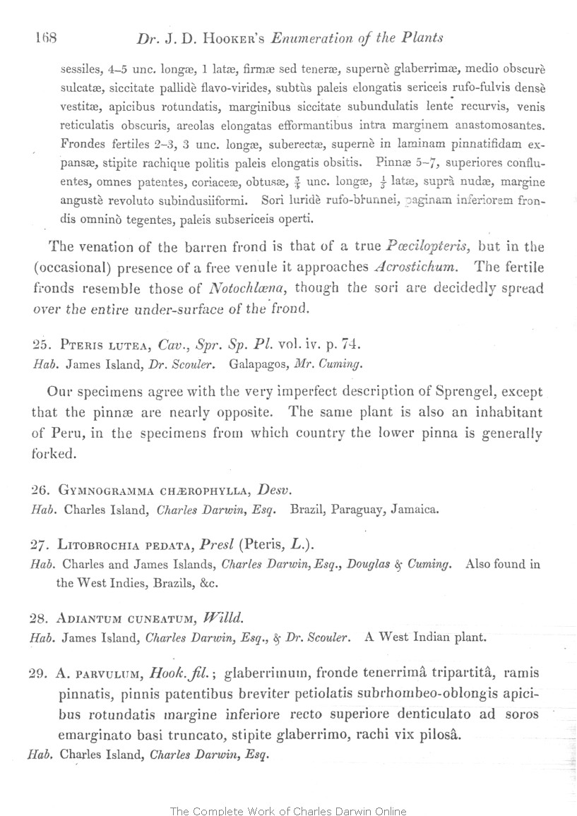Hooker J D 1847 An enumeration of the plants of the Galapagos – Charles Darwin Worksheet