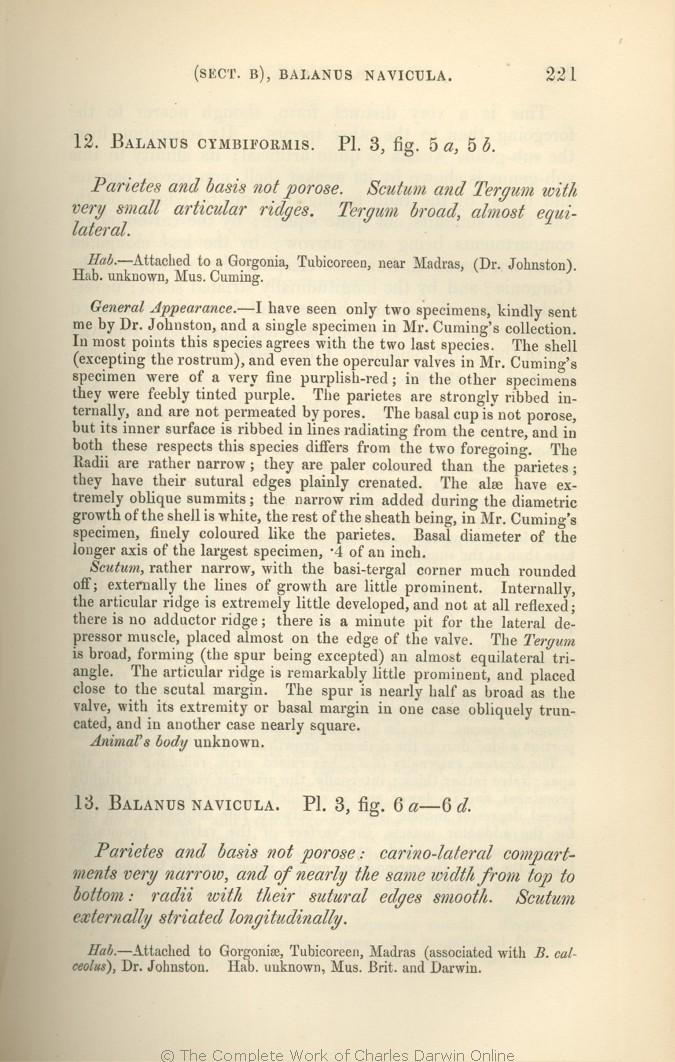 Darwin, C  R  1854  A monograph on the sub-class Cirripedia