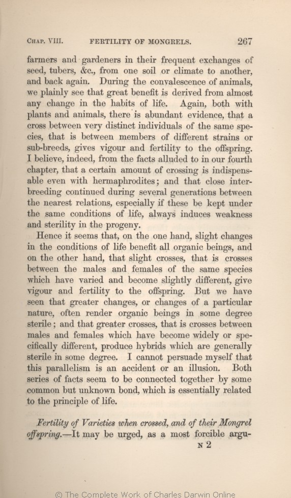 Darwin, C. R. 1859. On the origin of species by means of natural selection,  or the preservation of favoured races in the struggle for life.