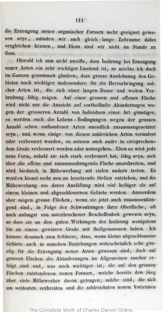 Darwin, C  R  1860  Über die Entstehung der Arten im Thier