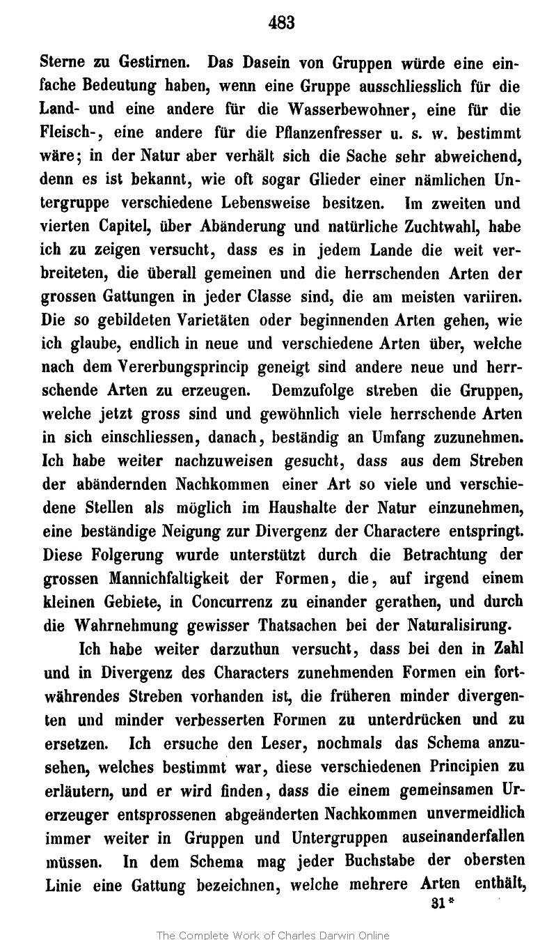 Darwin, C. R. 1867. Die Entstehung der Arten im Thier- und Pflanzen ...