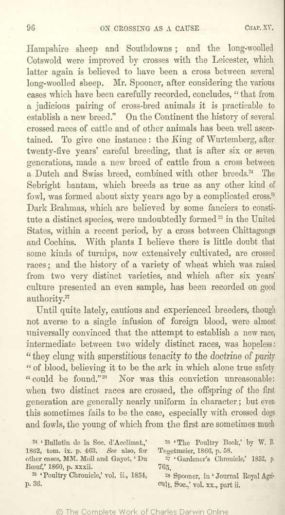 The variation of animals and plants under domestication. London  John  Murray. 1st edition 9b4fb9481b2c9