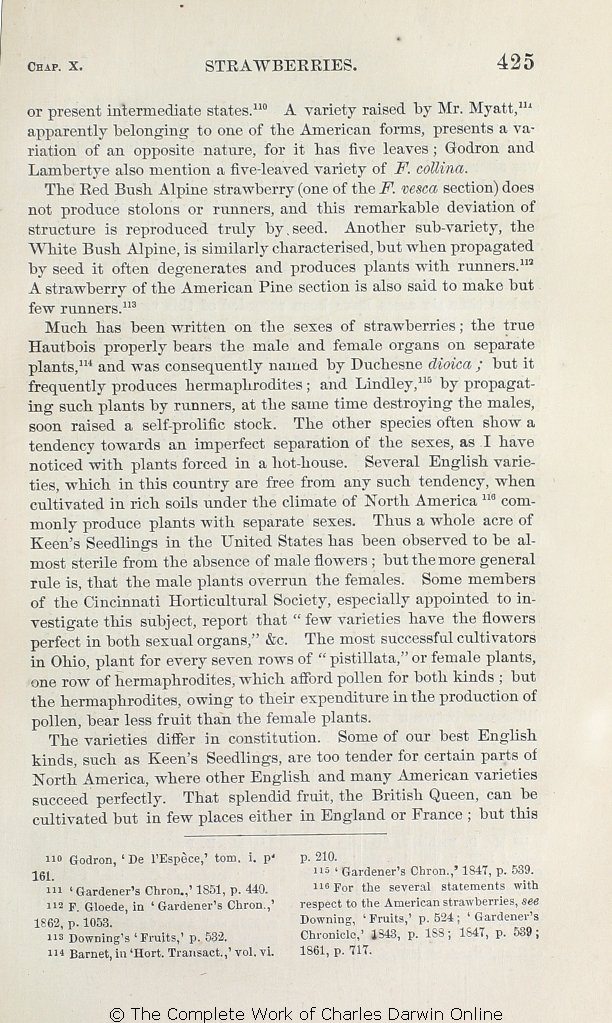 Darwin, C  R  [1868]  The variation of animals and plants
