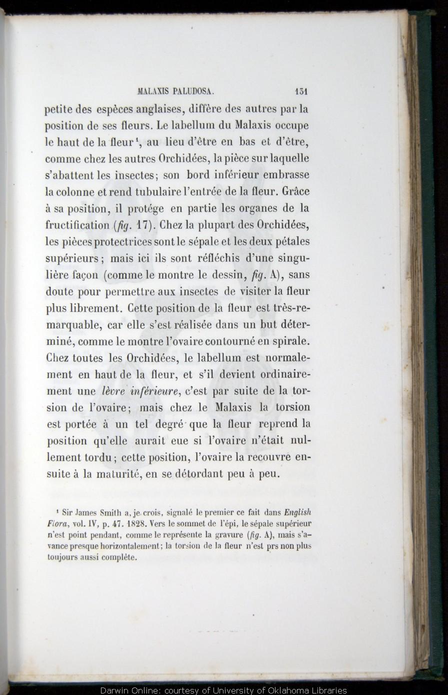 Darwin C R 1870 De La Fcondation Des Orchides Par Les Insectes Et Bons Rsultats Du Croisement Trans By Louis Rrolle Paris Reinwald