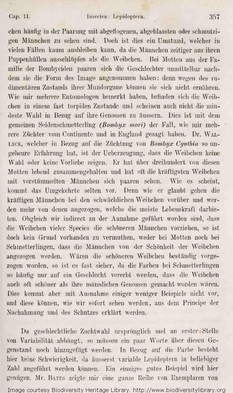Darwin, C. R. 1871. Die Abstammung des Menschen und die geschlechtliche  Zuchtwahl. Translated by J. V. Carus. 2d edition. Stuttgart: Schweizerbart.  Volume 1