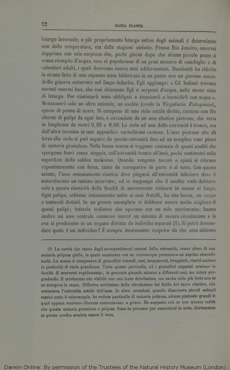 Viaggio di un naturalista intorno al mondo. Translated by Michele Lessona.  Turin  Unione. e7219b8253d1