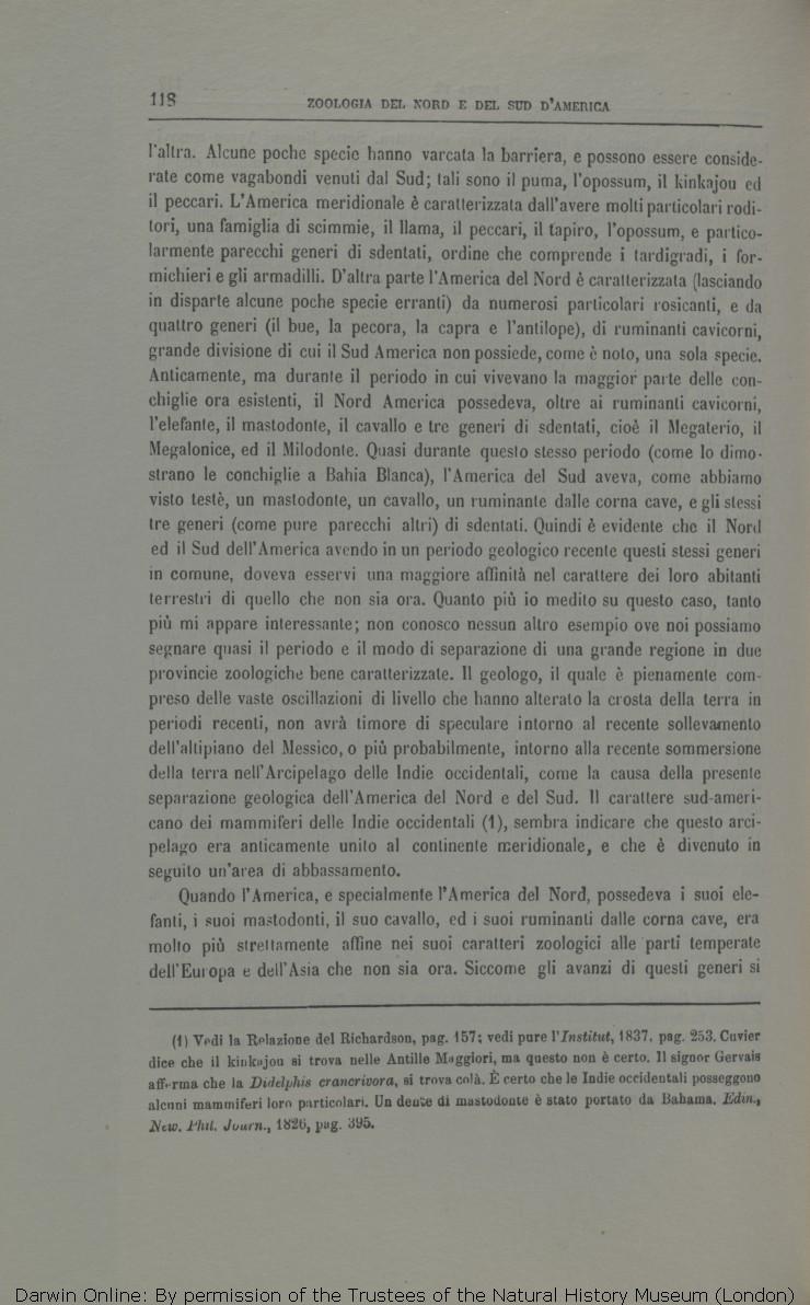 Viaggio di un naturalista intorno al mondo. Translated by Michele Lessona.  Turin  Unione. d8a7a52625b2
