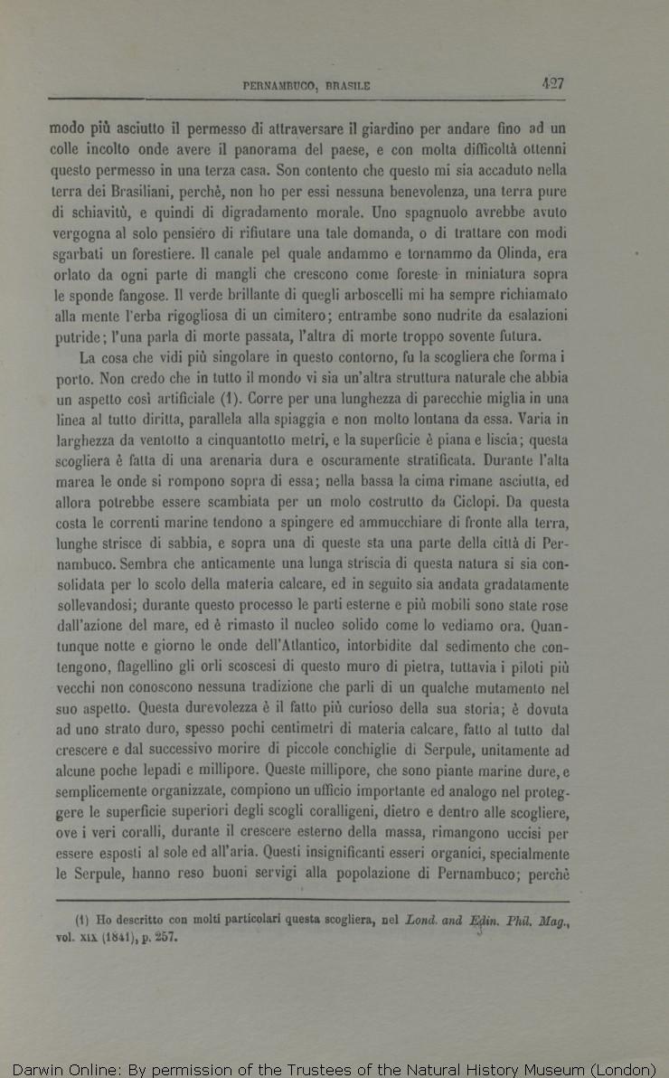Darwin C R 1872 Viaggio Di Un Naturalista Intorno Al