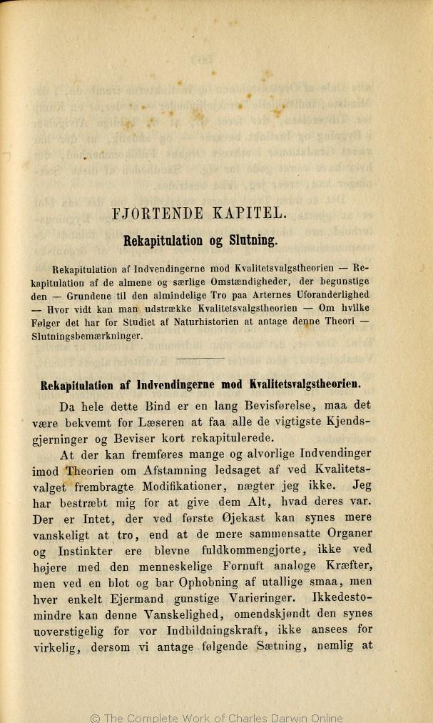 fe4aafbebc2 Darwin, C. R. 1872. Om Arternes Oprindelse ved Kvalitetsvalg eller ved de  heldigst stillede Formers Sejr i Kampen for Tilværelsen.