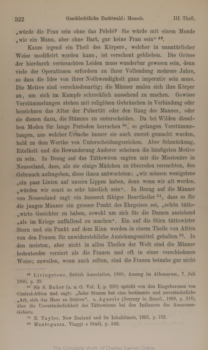 Darwin, C. R. 21. Die Abstammung des Menschen und die ...