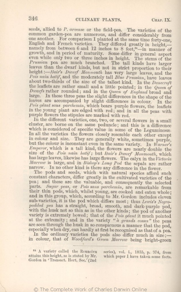 Darwin, C  R  1875  The variation of animals and plants