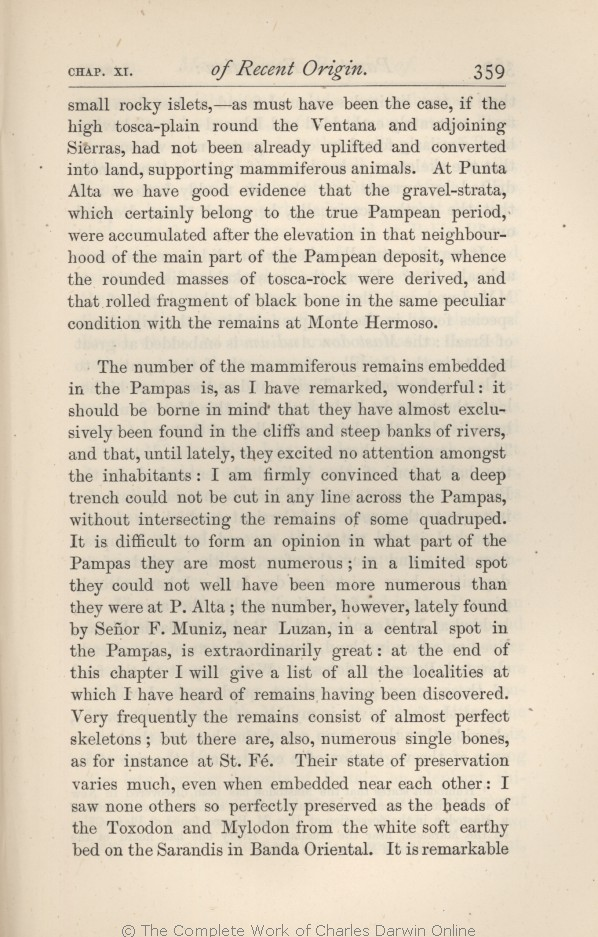 Darwin, C  R  1876  Geological observations on the volcanic
