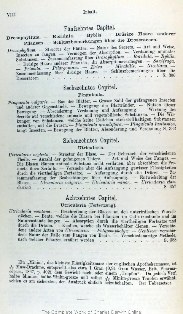 Darwin, C. R. 1876. Insectenfressende Pflanzen. Translated by J. V. ...