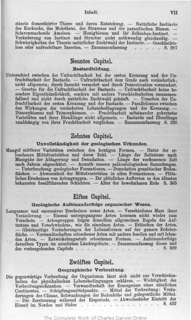 Darwin, C. R. 1876. Die Entstehung der Arten im Thier- und Pflanzen ...