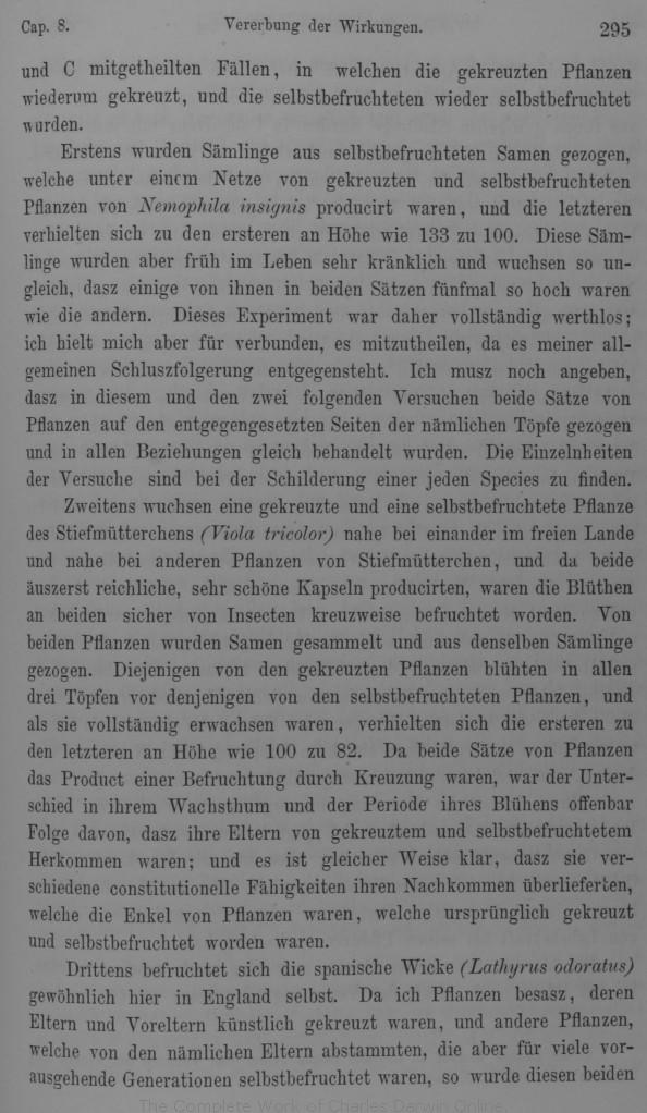 Darwin C R 1877 Die Wirkungen Der Kreuz Und Selbst