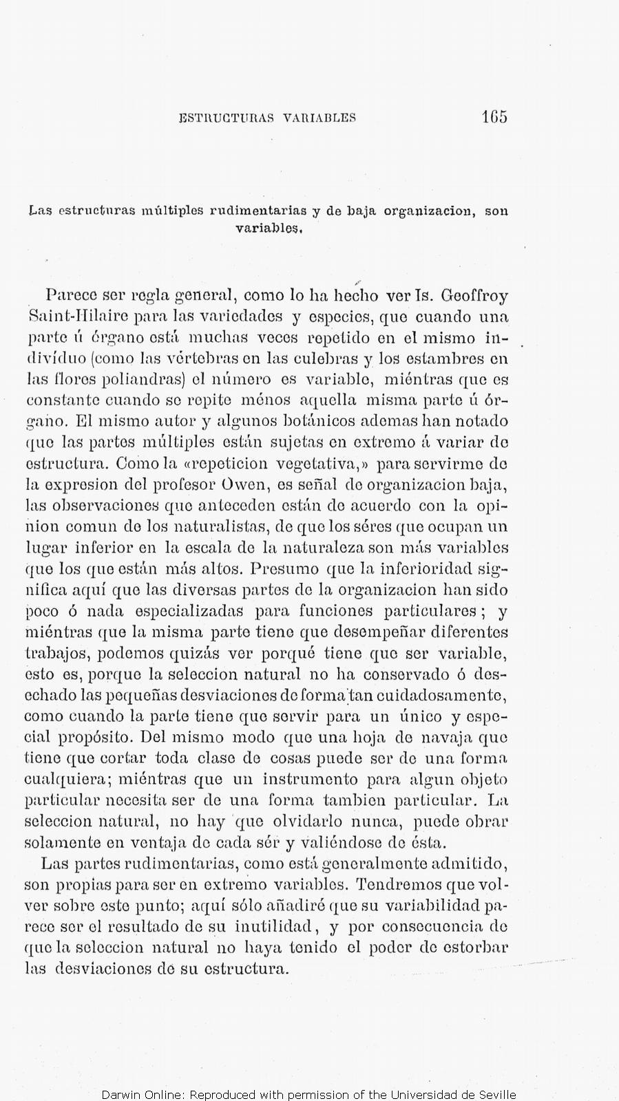 Tdarwin C R 1877 Orígen De Las Especies Por Medio De