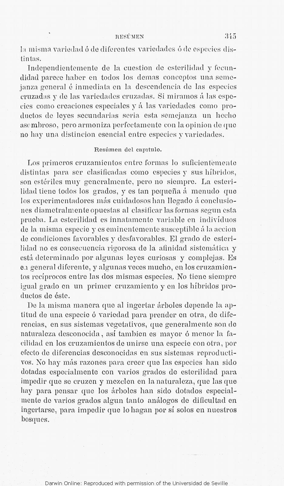 TDarwin, C. R. [1877]. Orígen de las especies por medio de la ...