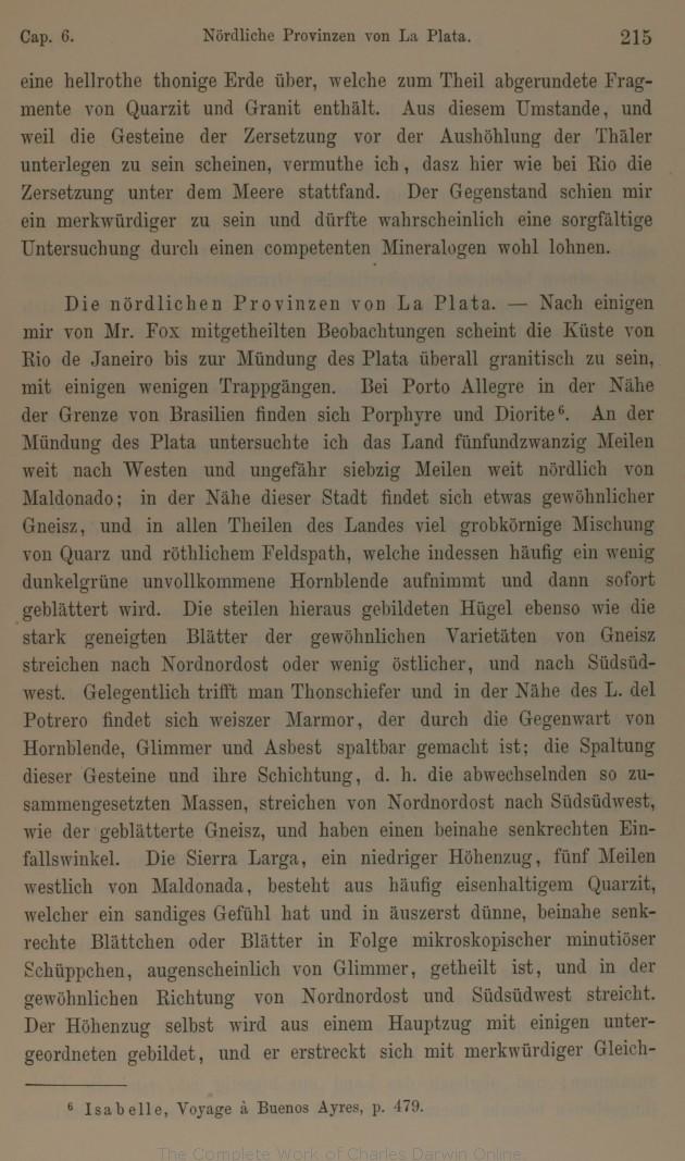Darwin C R 1878 Geologische Beobachtungen über Süd Amerika