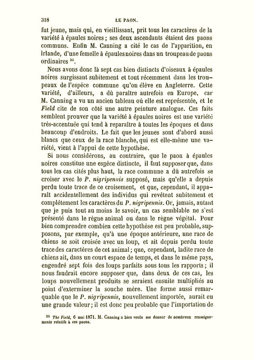 fc8997ebdd Darwin, C. R. 1879. De la variation des animaux et des plantes à l'état  domestique. Traduit sur la seconde édition anglaise par Ed. Barbier;  préface de Carl ...