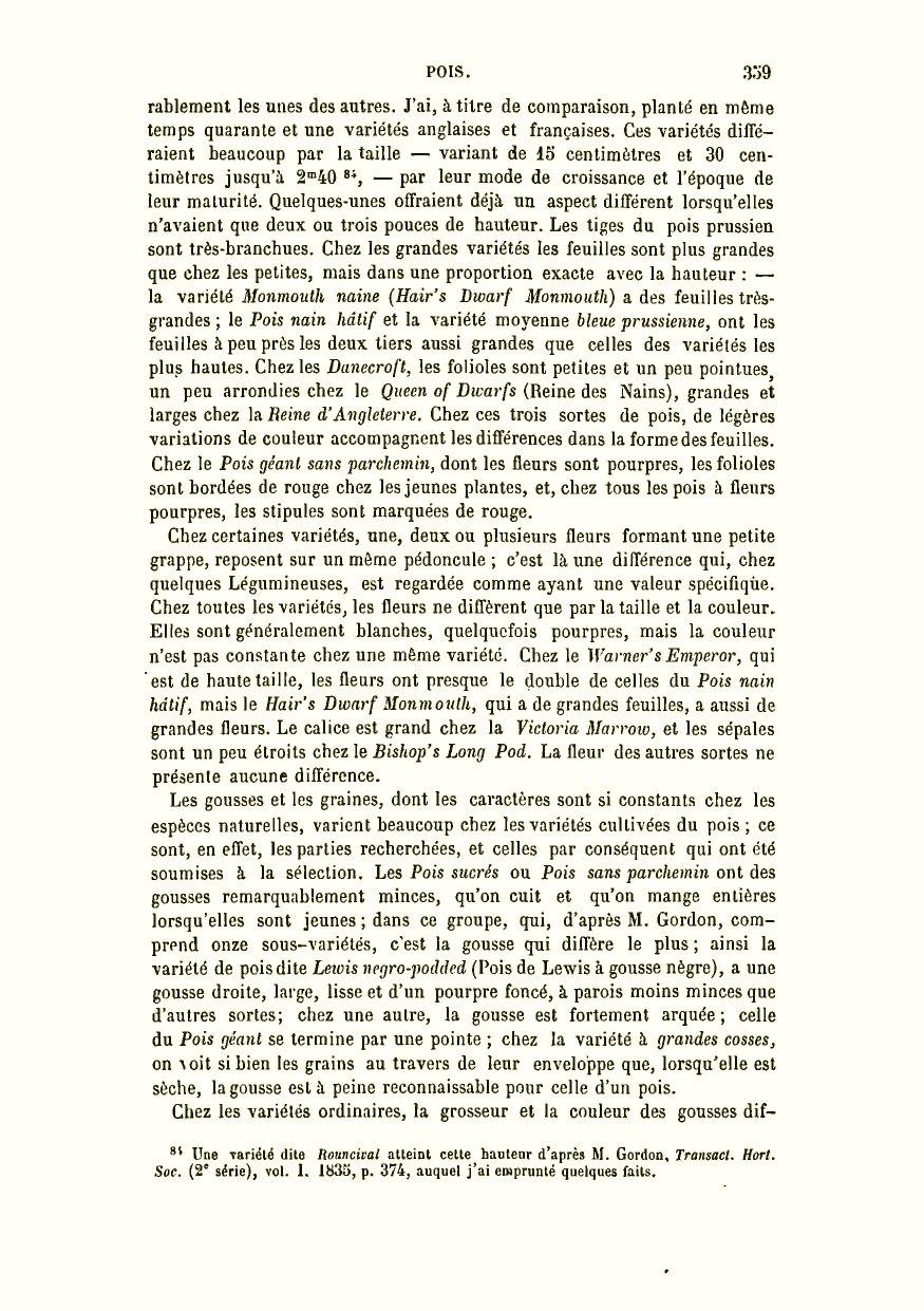 111dfbb3e9971e Darwin, C. R. 1879. De la variation des animaux et des plantes à l état  domestique. Traduit sur la seconde édition anglaise par Ed. Barbier   préface de Carl ...
