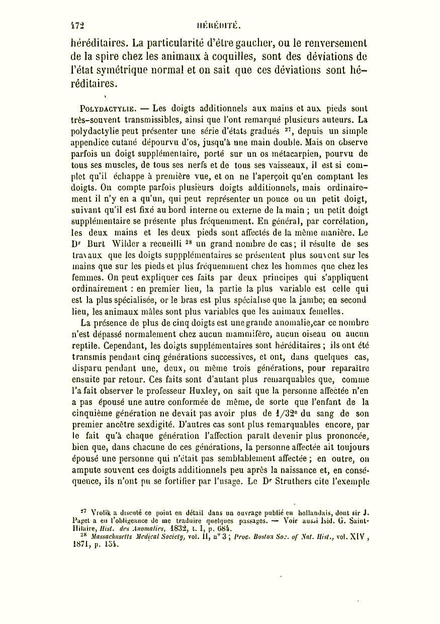 Darwin C R 1879 De La Variation Des Animaux Et Des