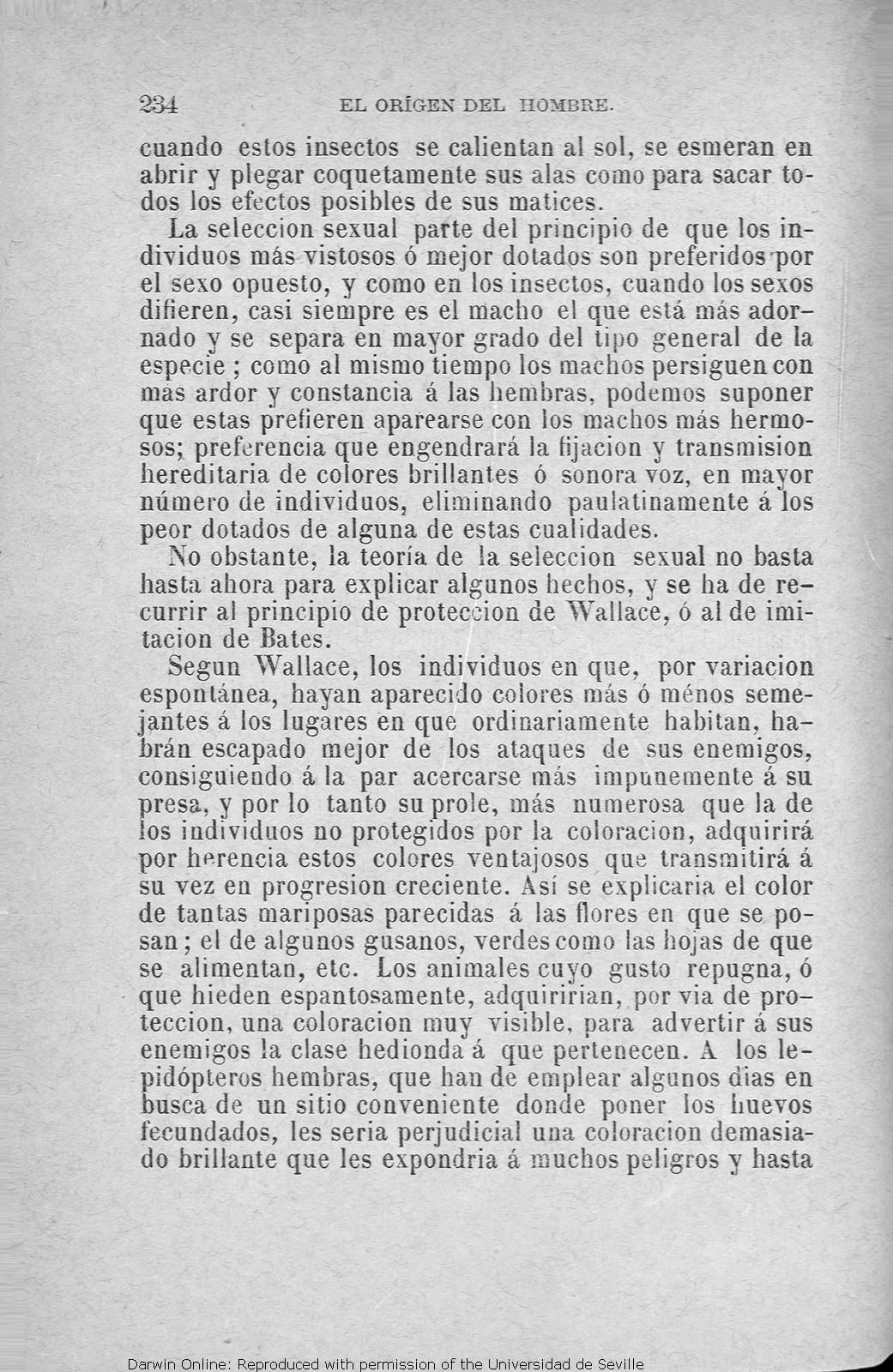 Darwin, C. R. 1880. El origen del hombre: la seleccion natural y la ...
