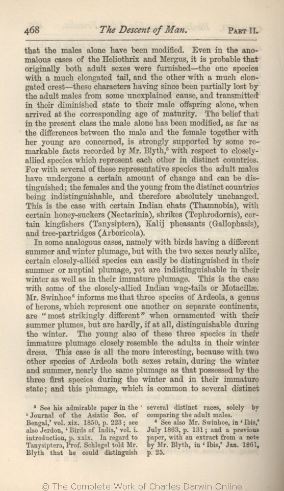 Darwin, C  R  1882  The descent of man, and selection in relation to