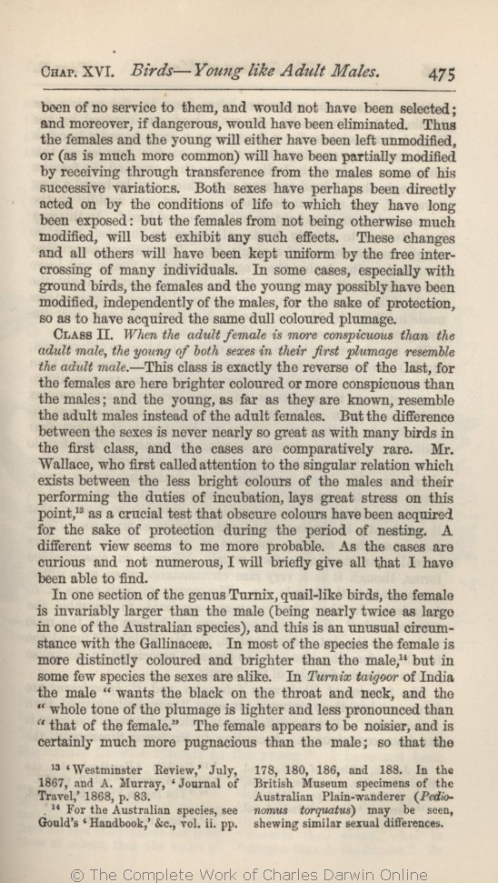 Darwin, C  R  1882  The descent of man, and selection in