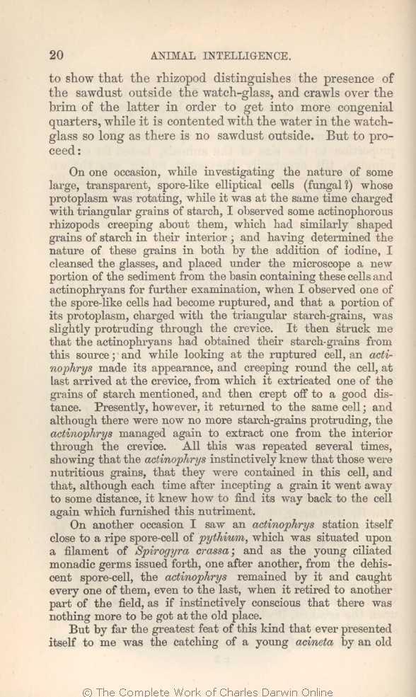 Arwin C R 1882 Extracts From Darwin S Notes In G J