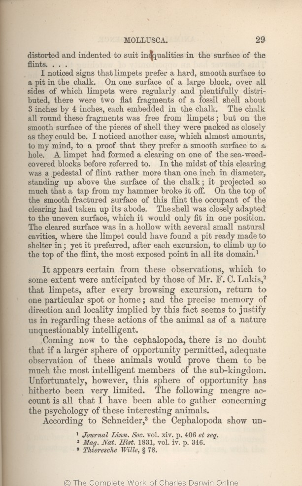 23d990830bfad arwin, C. R. 1882. [Extracts from Darwin's notes] In G. J. Romanes. Animal  intelligence. London: Kegan Paul Trench & Co.
