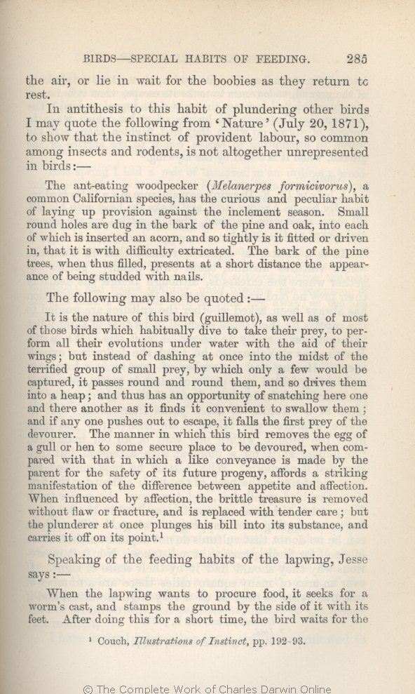 arwin, C. R. 1882. [Extracts from Darwin's notes] In G. J. Romanes. Animal  intelligence. London: Kegan Paul Trench & Co.