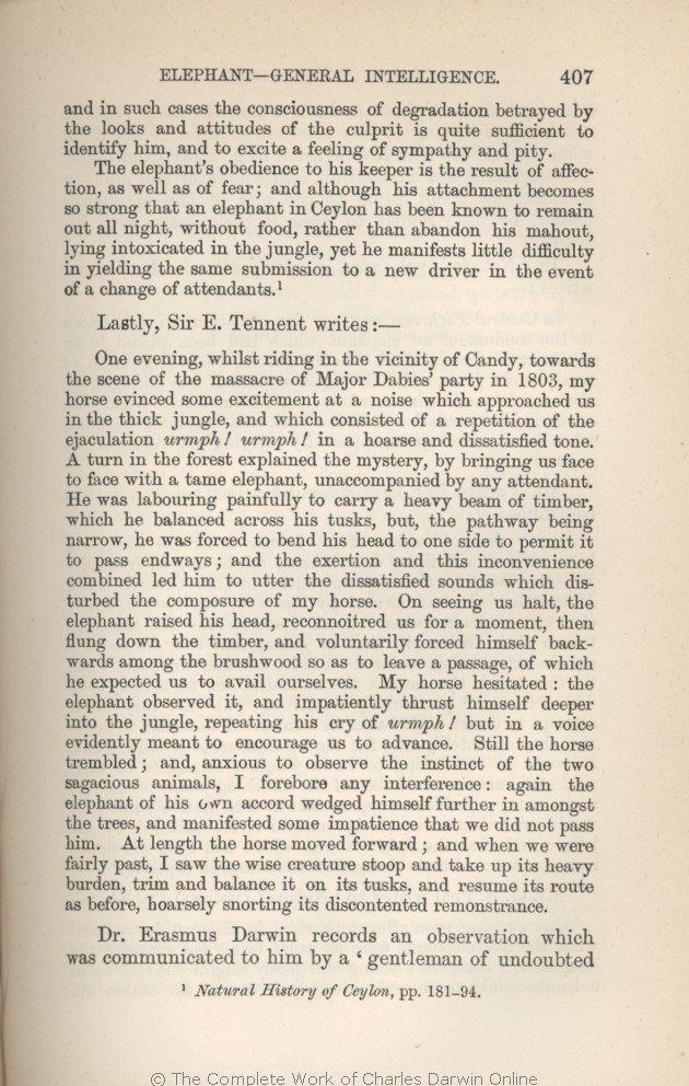 Arwin C R 1882 Extracts From Darwins Notes In G J Romanes
