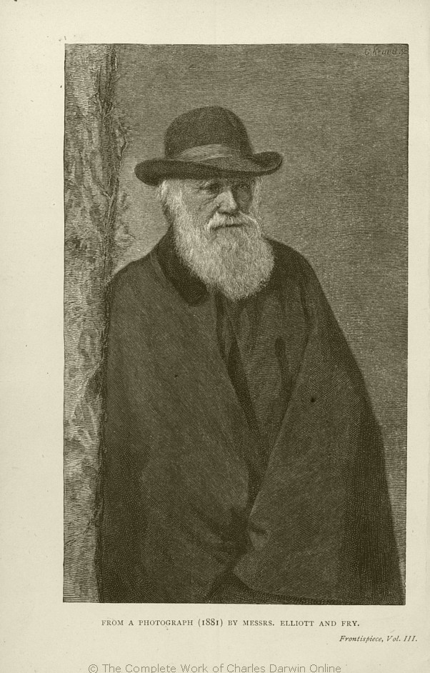 Darwin, Francis ed. 1887. The life and letters of Charles Darwin, including  an autobiographical chapter. vol. 3. London: John Murray.
