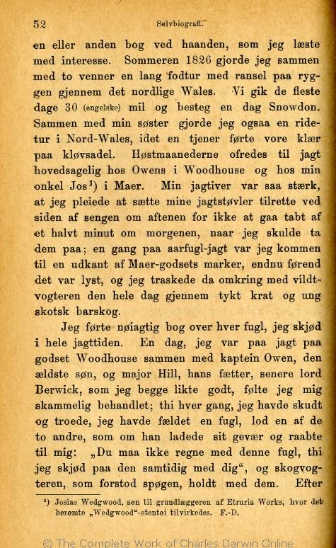ae06a0a230cd Charles Darwins liv og breve med et kapitel selvbiografi. Translated by  Martin Simon Søraas. Fagerstrand pr. Høvig  Bibliothek for de Tusen Hjem.  Volume 1.