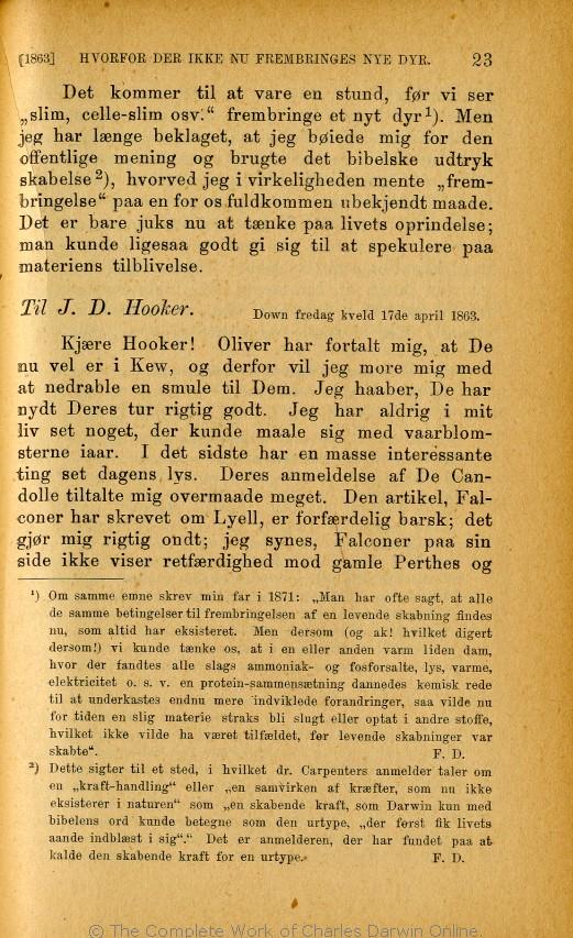 b8ac39e9 Charles Darwins liv og breve med et kapitel selvbiografi. Translated by  Martin Simon Søraas. Fagerstrand pr. Høvig: Bibliothek for de Tusen Hjem.  Volume 3.