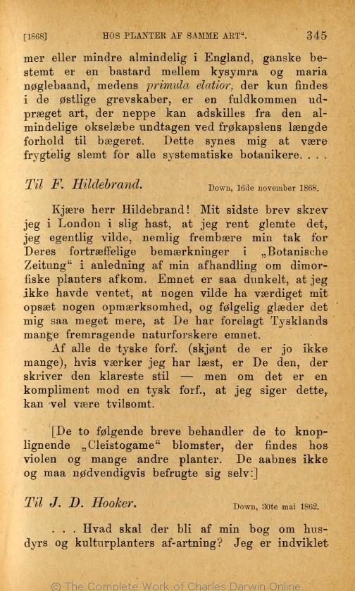 8005a00e6a7 Charles Darwins liv og breve med et kapitel selvbiografi. Translated by  Martin Simon Søraas. Fagerstrand pr. Høvig: Bibliothek for de Tusen Hjem.  Volume 3.