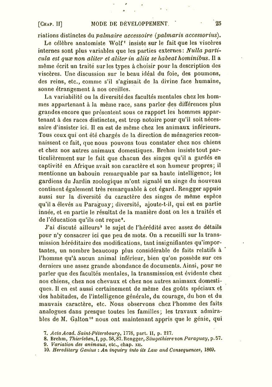aba6aa80f3df51 Darwin, C. R. 1891. La descendance de l homme et la sélection sexuelle.  Trans. by Edmond Barbier. Preface by Carl Vogt. Paris  C. Reinwald.