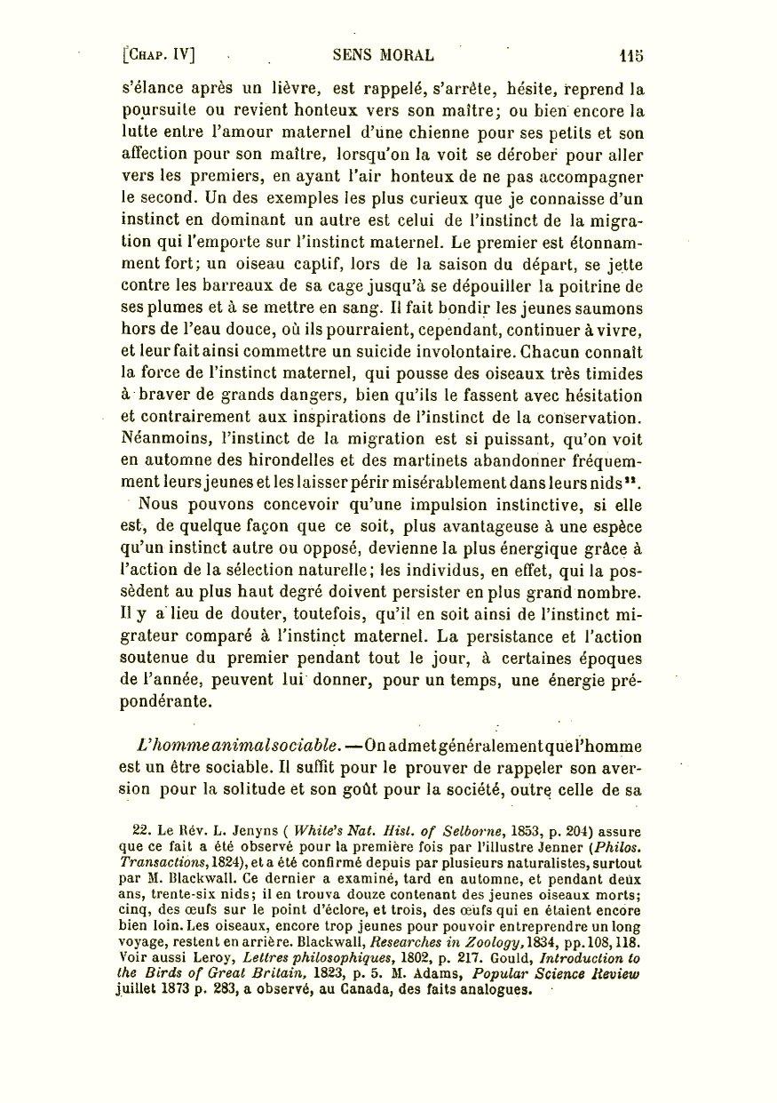 491375b0fd Darwin, C. R. 1891. La descendance de l'homme et la sélection sexuelle.  Trans. by Edmond Barbier. Preface by Carl Vogt. Paris: C. Reinwald.