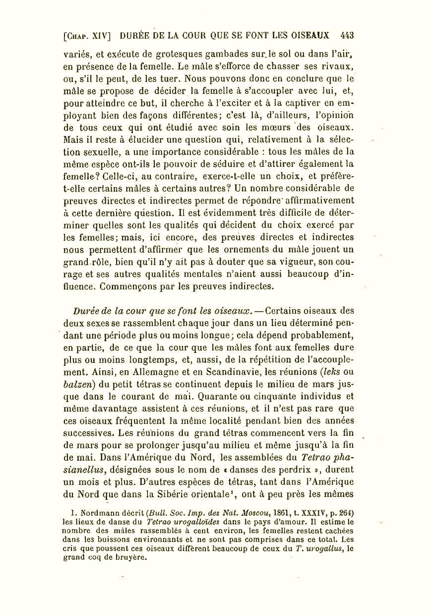 Darwin c r 1891 la descendance de lhomme et la sélection sexuelle trans by edmond barbier preface by carl vogt paris c reinwald
