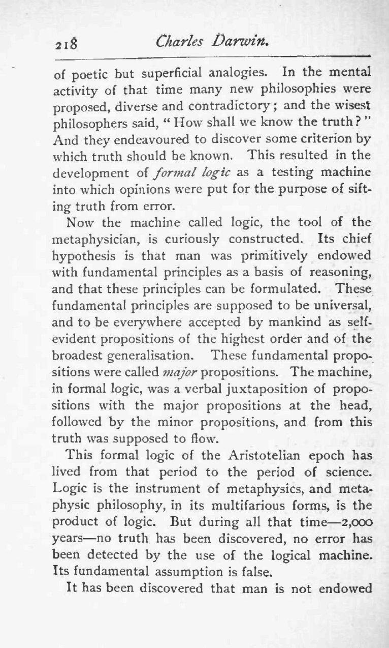Holder, Charles Frederick  1892  Charles Darwin: his life and work