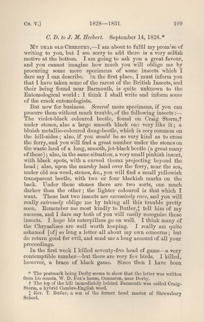 Darwin, Francis ed  1892  Charles Darwin: his life told in