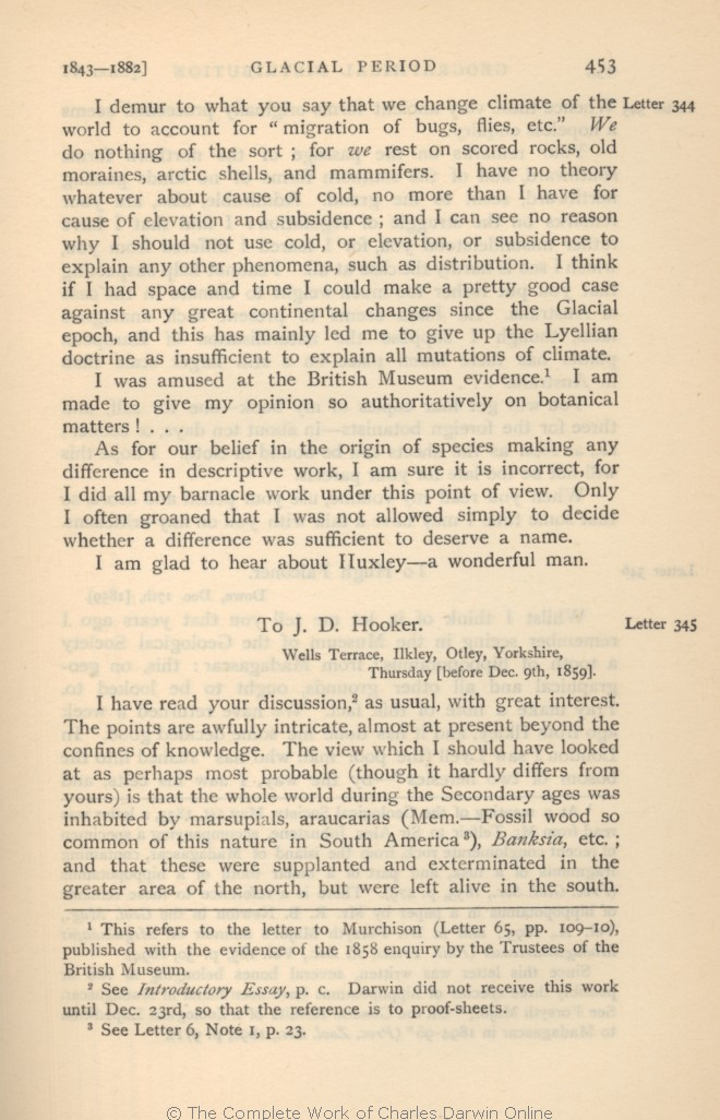More Letters Of Charles Darwin A Record His Work In Series Hitherto Unpublished London John Murray Volume 1