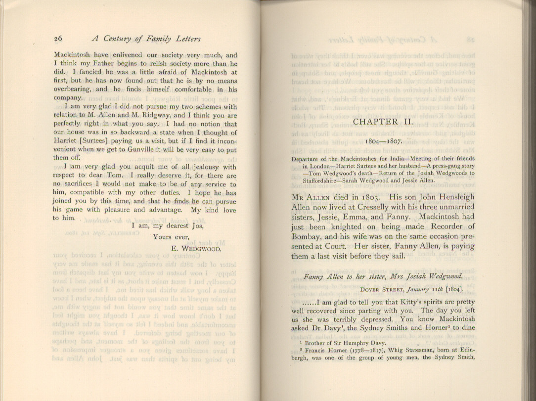 Litchfield H E Ed 1904 Emma Darwin Wife Of Charles A Century Family Letters Cambridge University Press Printed Volume 1