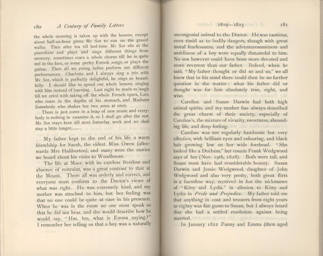 litchfield h e ed 1904 emma darwin wife of charles darwin a century of family letters cambridge university press printed volume 1