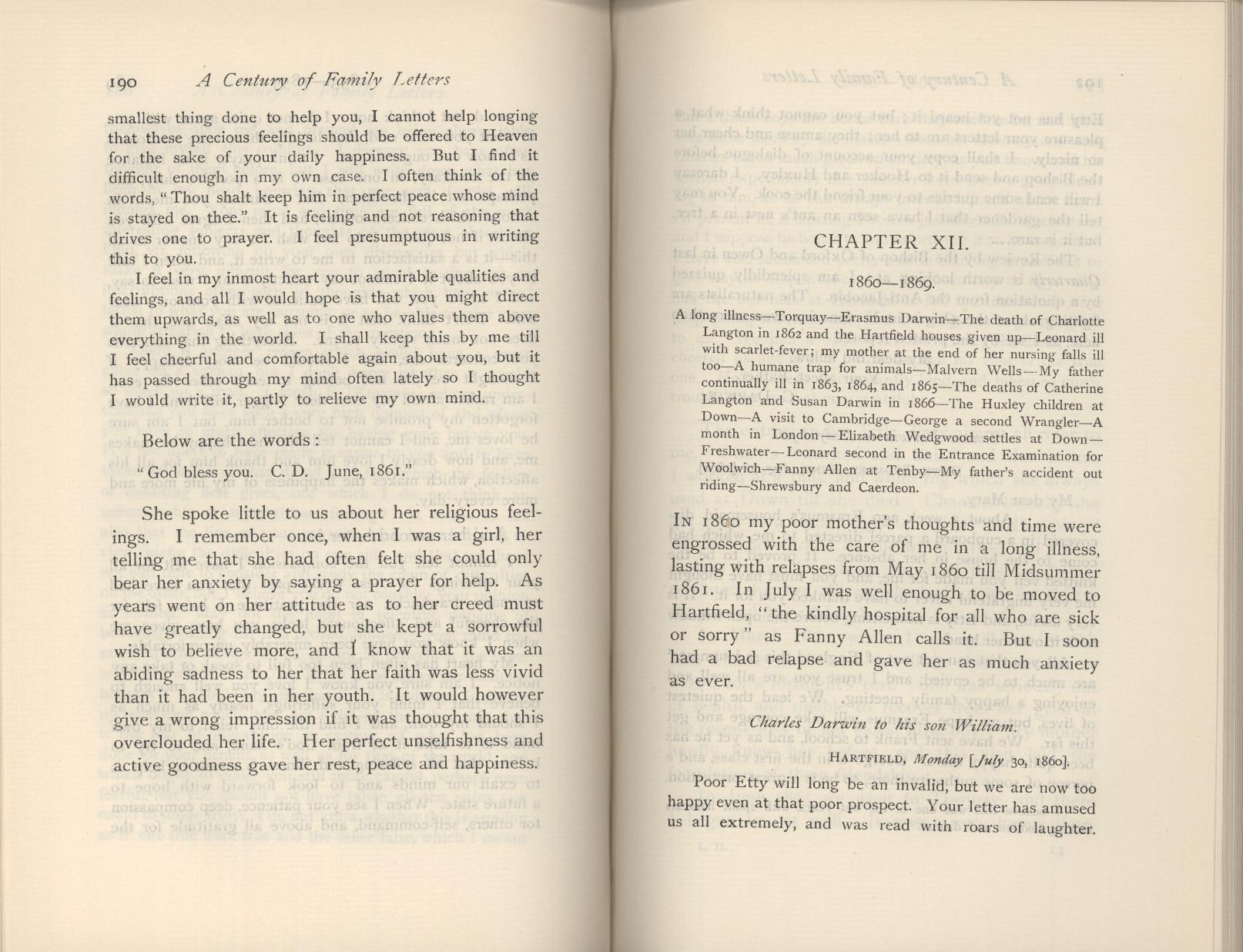 Litchfield, H  E  ed  1904  Emma Darwin, wife of Charles Darwin  A