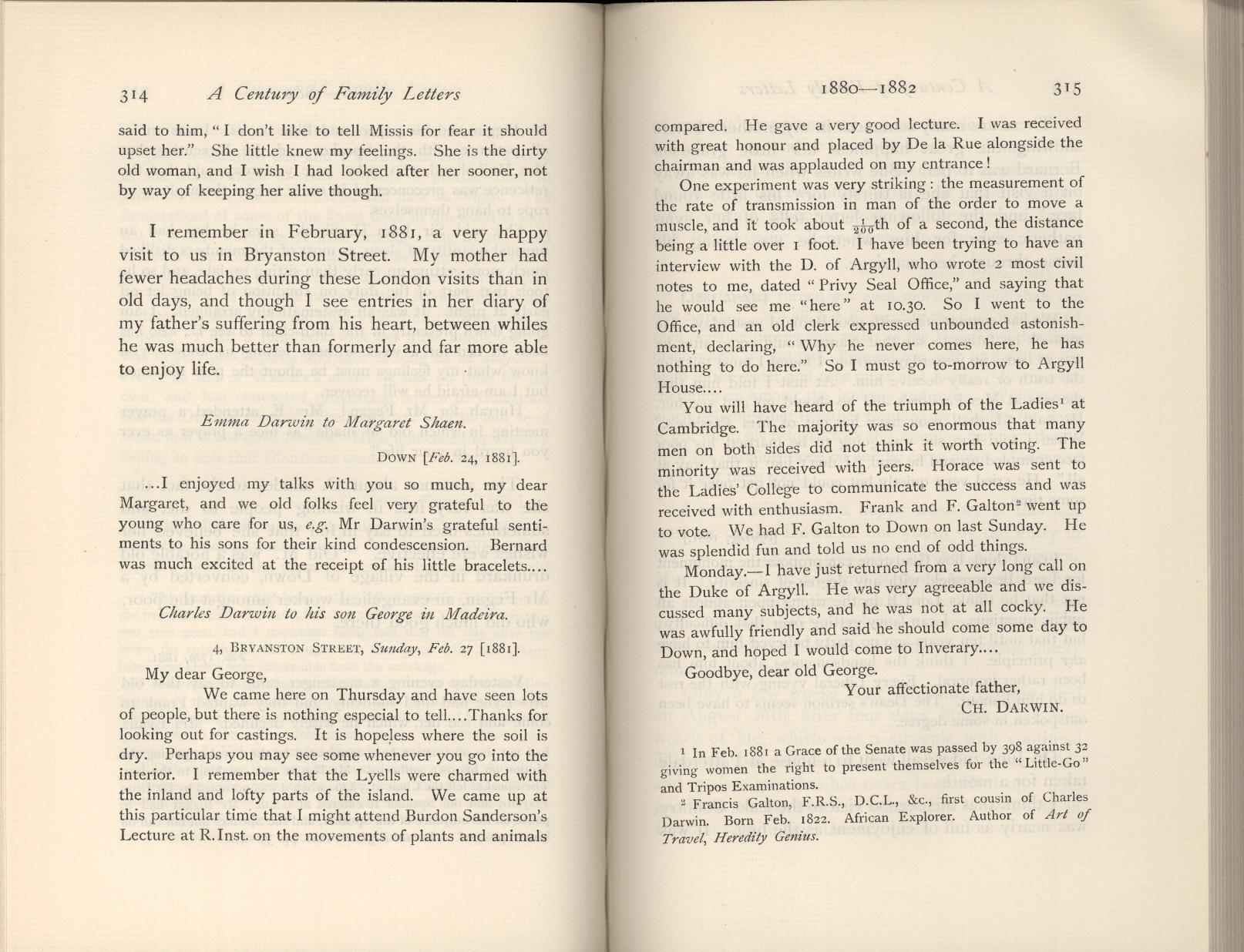 Litchfield, H  E  ed  1904  Emma Darwin, wife of Charles