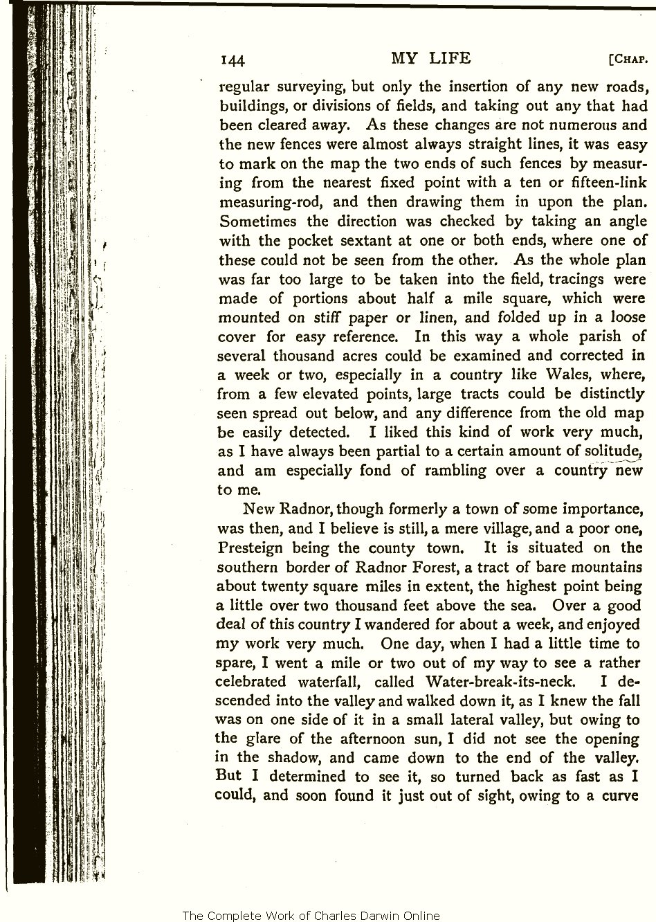 Wallace, A. R. 1905. My life: A record of events and opinions. London:  Chapman and Hall. Volume 1.