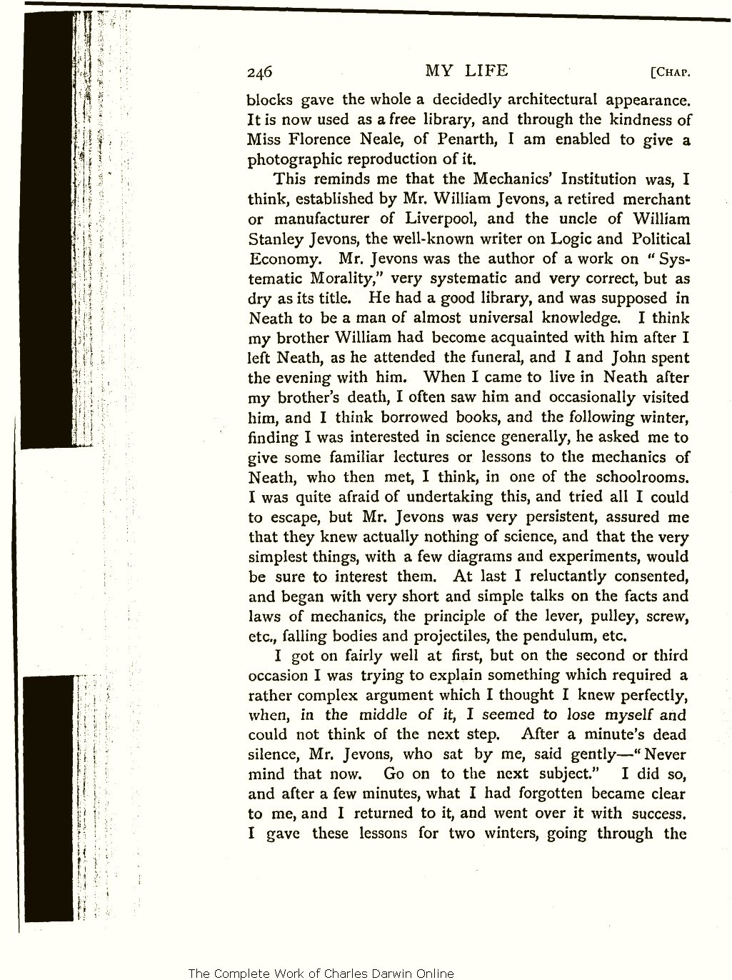 f8db82ec60b My life: A record of events and opinions. London: Chapman and Hall. Volume  1.